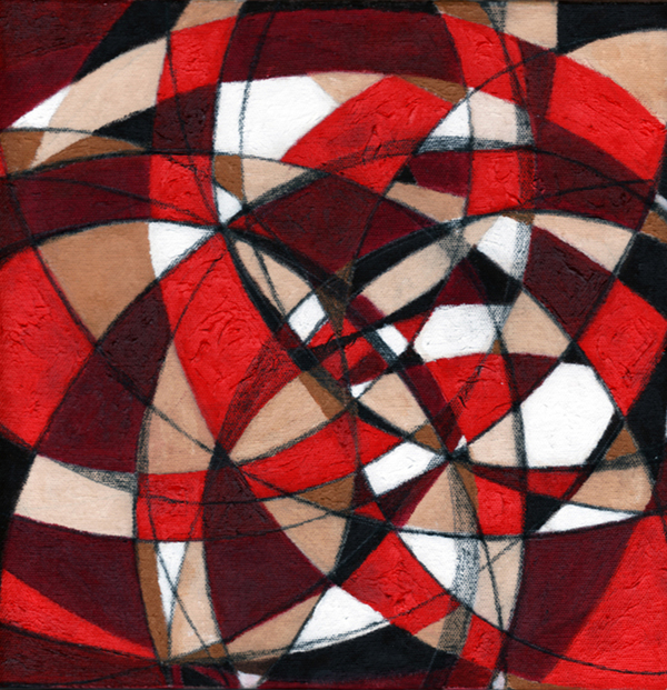 Lorien Suárez-Kanerva Wheel within a Wheel Artwork Acrylic/Charcoal on Unprimed Canvas