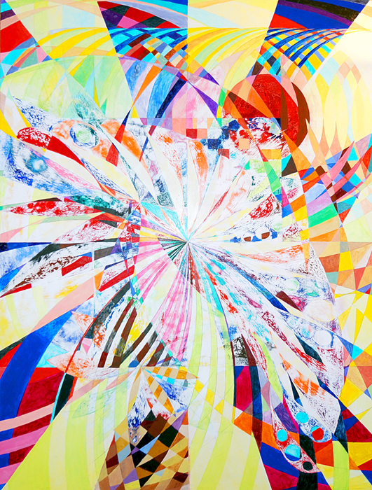 Lorien Suárez-Kanerva Wheel within a Wheel Artwork Watercolor/Acrylic on Ampersand Gesso Board Panel