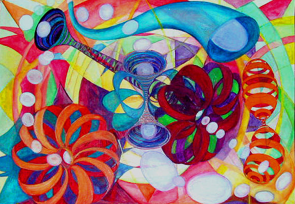 Lorien Suárez-Kanerva Wheel within a Wheel Artwork Watercolor/Gouache on Strathmore Paper