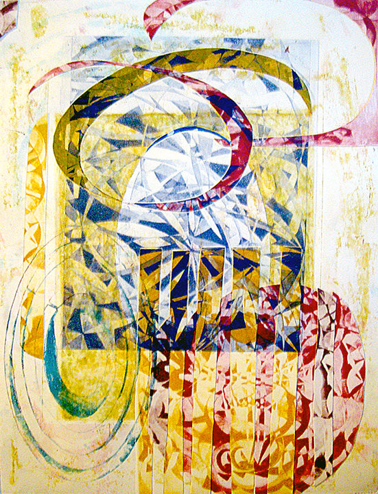 Lorien Suárez-Kanerva Wheel within a Wheel Artwork Monoprint