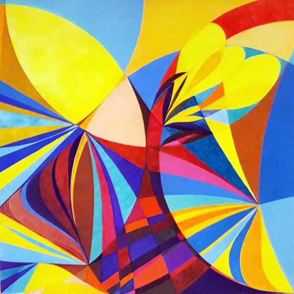 Lorien Suárez-Kanerva Wheel within a Wheel Artwork Acrylic