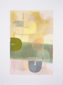 Lori Glavin PRINTMAKING Monotype with collage
