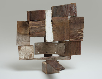 Lori Glavin OBJECTS Found wood and metal