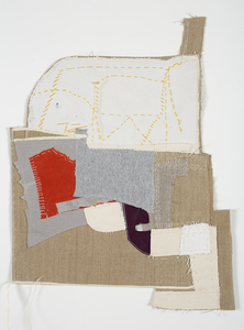 Lori Glavin TEXTILES found papers, linen, vintage fabrics, t-shirts, canvas, thread and embroidery floss