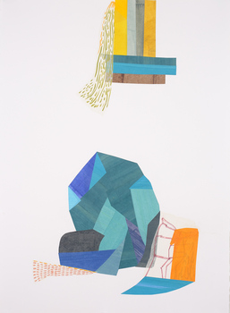 Lori Glavin MIXED MEDIA ON PAPER Collage with Gouache