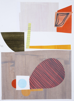 Lori Glavin SMALL COLLAGE collage and gouache on paper