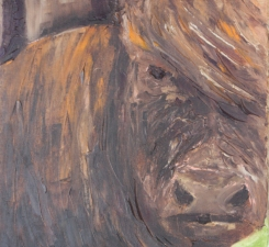 Lori Starkey Cows! oil on canvas