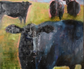 Lori Starkey Cows! Oil