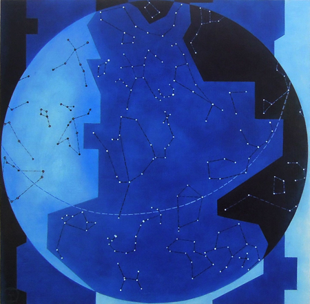 Lori Tremblay Celestial Territories oil on panel