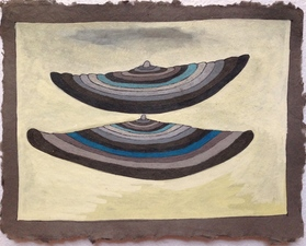 Louis Brawley Dark/Light Papers Guache and colored pencil on handmade paper