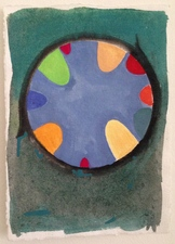 Louis Brawley Tiny German 2011 water-colour on handmade paper