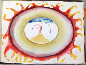 Louis Brawley San Diego 2008 Watercolor on handmade paper book