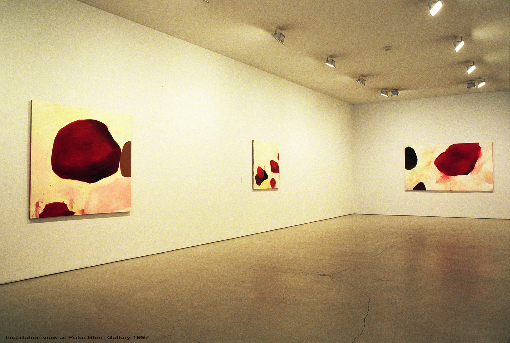 earlier work and sketchbooks exhibition at Peter Blum nyc     1997