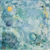 Louise Weinberg  Sphere Series- Emerging oil on canvas