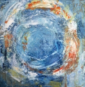 Louise Weinberg  Circle Series oil on canvas