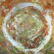 Louise Weinberg  Circle Series oil on paper