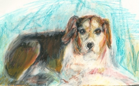 Louise Weinberg Dogs crayon