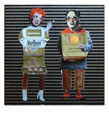 Jane Lubin CigarettePack Collages Collage