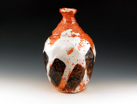 LUCIEN KOONCE ceramics Tokkuri : Sake Flasks Wood fired Stoneware