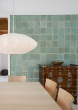 Lucy W. Scanlon Guest House, Martha's Vineyard Slip cast tile wall