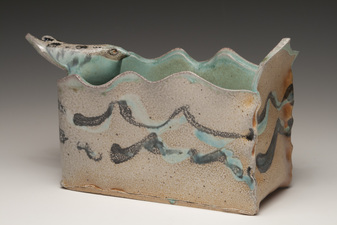 Lucy W. Scanlon Marine Motif Pieces - 2010-1015 White stoneware, slip, and glaze