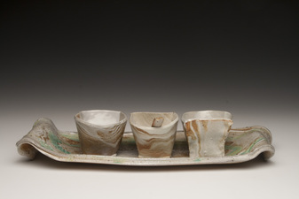 Lucy W. Scanlon Older Tableware Brown Stoneware and Porcelain, Glaze