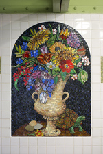 Luisa Caldwell Public Commissions glass mosaic, ceramic tile
