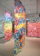 Luisa Caldwell Installations & Sculpture candy wrappers, gel medium