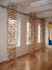 Luisa Caldwell Installations & Sculpture candy wrapper and thread