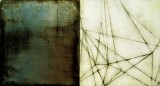 Luisa Sartori Lines & Weather oil, silver leaf, graphite on wood