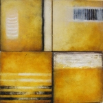 "Luisa Sartori go to ""Small Works"" Oil, gesso on wood"