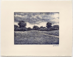L  U  I  S   C  O  L  A  N Landscapes pen and ink over monotype ghost print