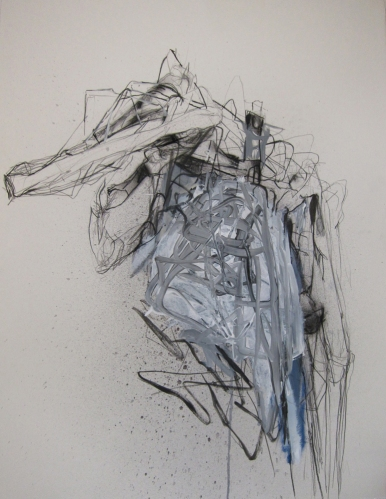 LINDA VERKLER Drawings and Mixed Charcoal, gesso on white Magnani Pescia  paper