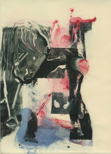 LINDA VERKLER Monotypes/Collages Monotype