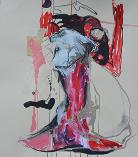 LINDA VERKLER Drawings and Mixed Charcoal, acrylic, pencil, collage on paper
