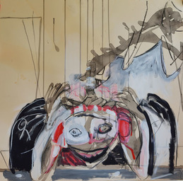 LINDA VERKLER Drawings and Mixed Charcoal, acrylic, gesso on  paper