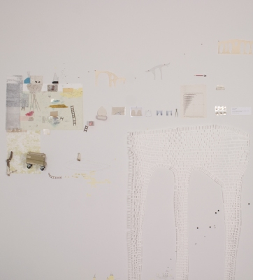 Lydia Diemer Installations mixed media installation: monoprint, drawing, constructed and found objects