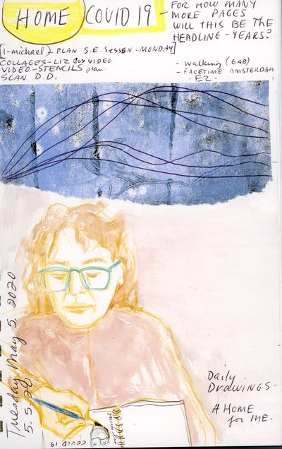 LYNN PETERFREUND Daily Drawing People 2014-2020