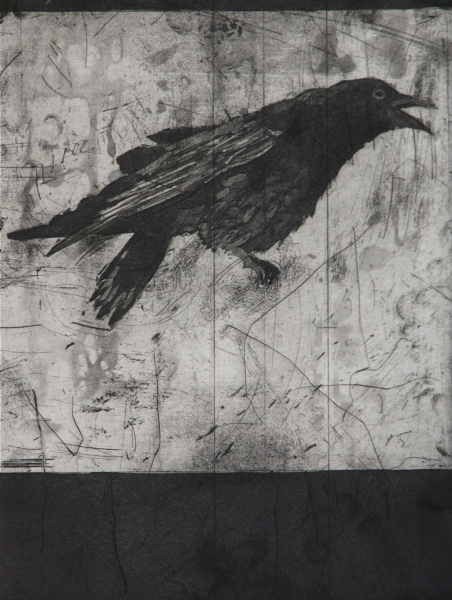 Larger Intaglio Crows A Murder of Crows no. 8 (talking)