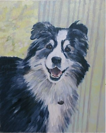 "Painting ""Sit"" Lilly"