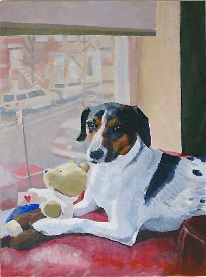 "Painting ""Sit"" Cameron"