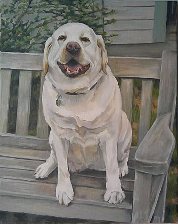 "Painting ""Sit"" Wheetabix"