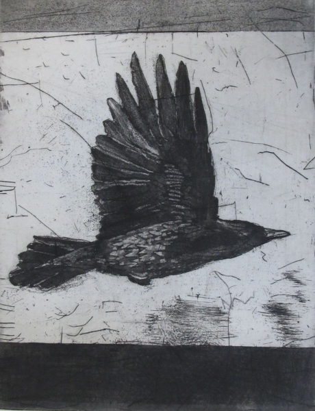 Larger Intaglio Crows A Murder of Crows no. 10