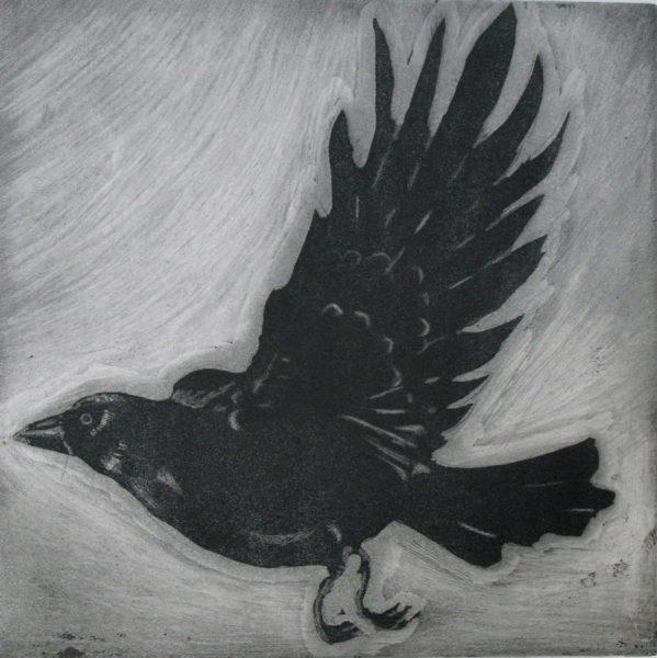 Larger Intaglio Crows A Murder of Crows (second)