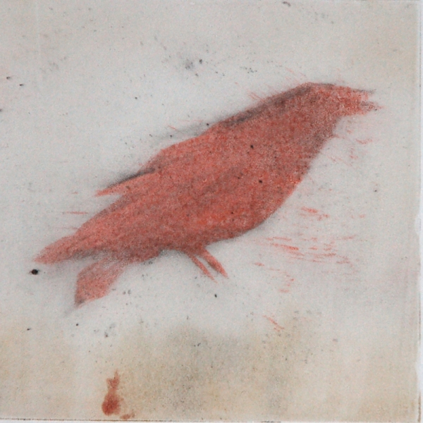 Monotype Crows A Murder of Crows no. 59 (soft red standing)
