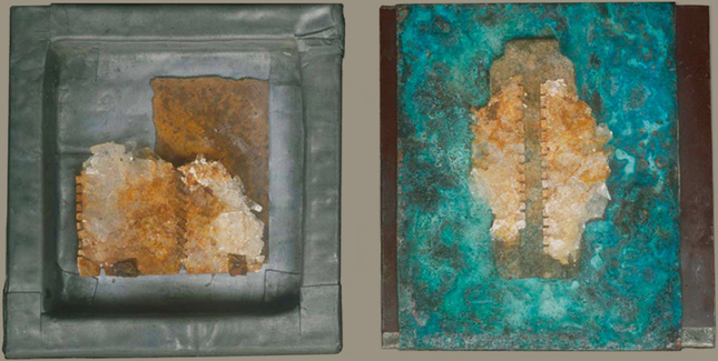 Assemblage mixed media on two panels