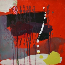 madeline denaro Paintings 2012-13 acrylic with polymers and marker on canvas