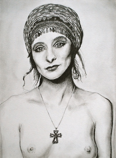 Drawing Woman with Headwrap