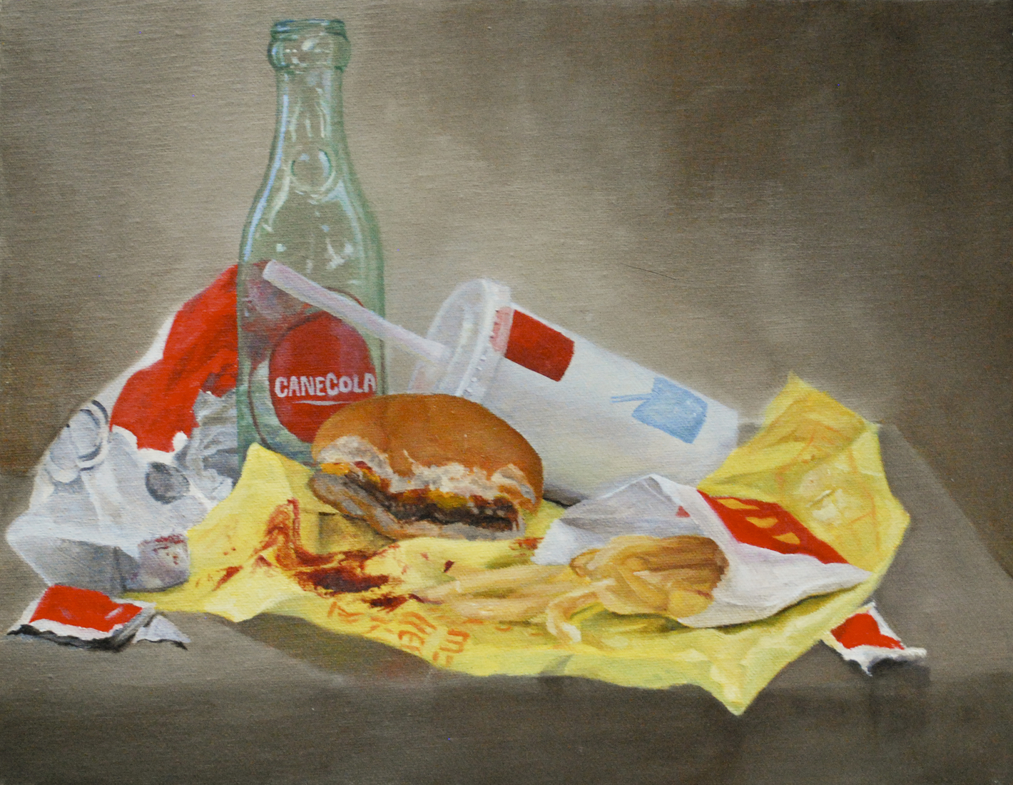 Painting McDonalds Dutch Breakfast