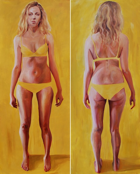 Painting Yellow Dani Diptych